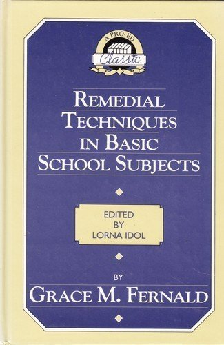 19950b6dad Remedial Techniques in Basic School Subjects (Pro-Ed Classics Series)  Hardcover – 1 Sep 1987