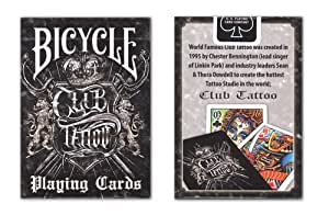 Bicycle club tattoo deck playing cards sports for Bicycle club tattoo deck