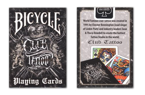 Bicycle Club Tattoo Deck Playing -