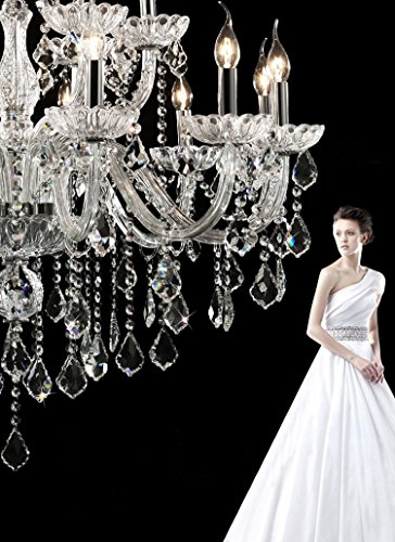 Generic Luxury Pendant Lamp Crystals Chandelier 18 Lights Arms Lamp Color Clear by non-brand (Image #3)