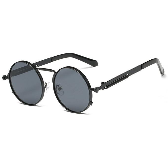 Yefree Gafas redondas Gafas Gafas de sol Vintage Retro para ...