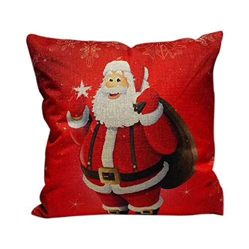 Pillow Case, HOOHI Home Decor Soft Christmas Lovely Bed Pillow Case Throw Cushion Cover, 1818