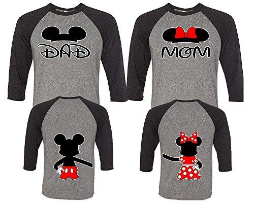 Dad Mom Couple Shirts, Matching Couple Shirts, Disney Shirts, King And Queen Shirts Black - Grey Man XL - Woman (Disney Couples)