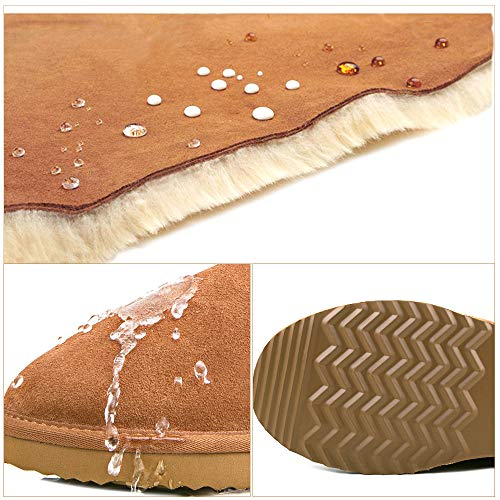 Calf Boots Classic Water Resistant AUSLAND Chestnut 5125 Mid Leather Snow Women's qWtYRRw8