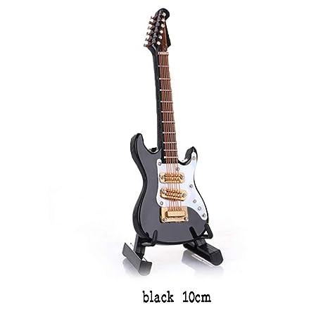 Mini Guitarra Eléctrica de Madera Decoración Árbol de Navidad Adornos de Bolas Mini Instrumentos Musicales Modelo