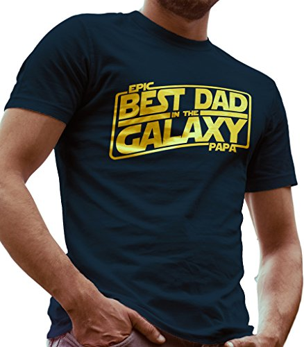 Lerage Shirts Best Dad In The Galaxy Star Wars Father Day Gift Mens Navy X Large