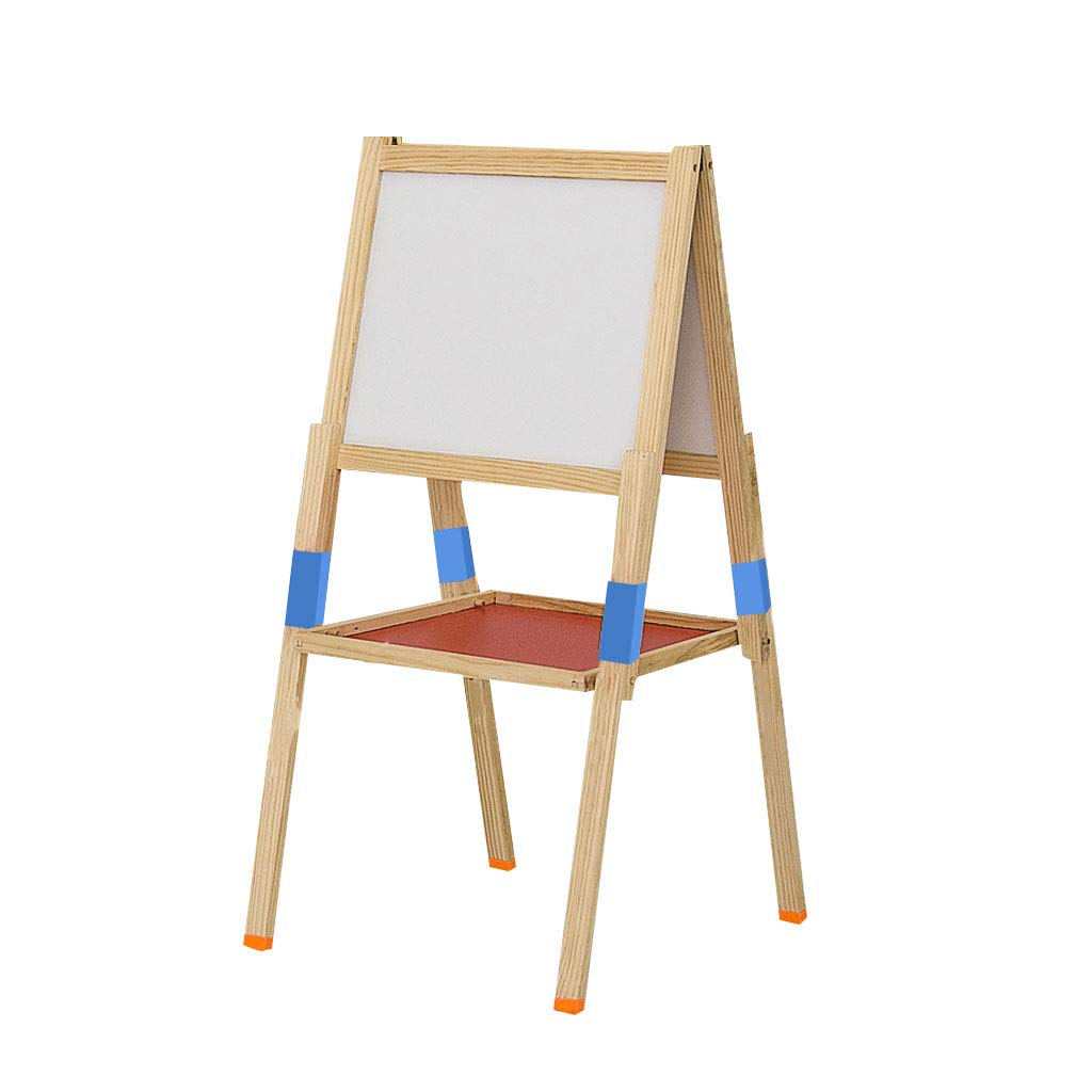 LING AI DA MAI Step2 Luxury Set Children's Solid Wood Easel Writing Board, Double-Sided Magnetic Drawing Board can be Raised and Lowered Bracket, Foldable Desk, Nano dustproof by Furniture feet-DA