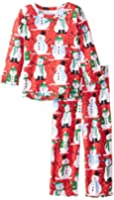 Sara's Prints Girls' Ruffle Top and Pant Pajama Set