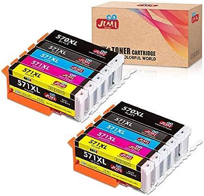 JIMIGO 570XL 571XL Cartuchos de Tinta para Canon PGI-570 CLI-571 ...