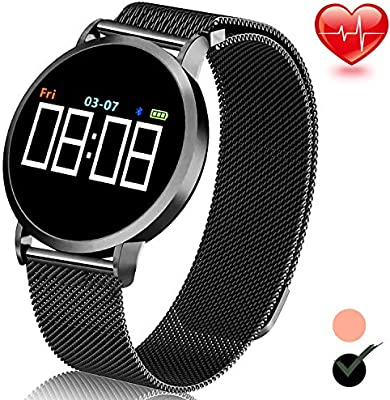 TURNMEON Smart Watch for Android/iOS Fitness Tracker HR IP67 Waterproof Swim Sport Bracelet with Heart Rate Blood Pressure Sleep Monitor Pedometer ...