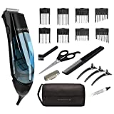Remington Vacuum Trimmer and Hair Clipper, 18-Piece Vacuum Haircut Kit, Easy Cleanup, HKVAC2000B