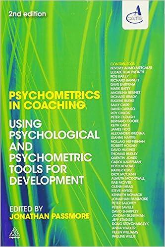 Amazoncom Psychometrics In Coaching Using Psychological And