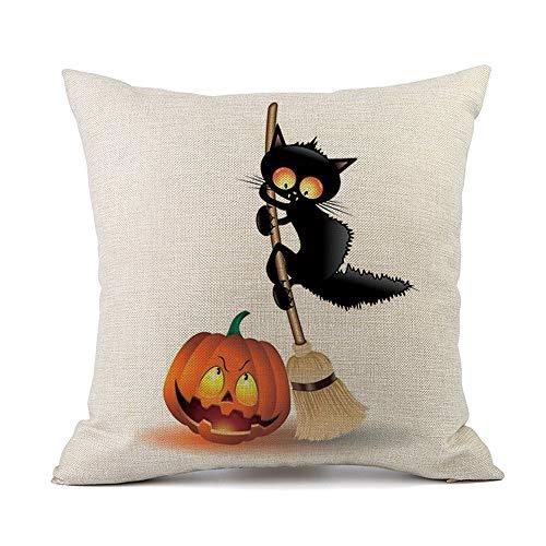 iYBUIA Fashion Design Happy Halloween Sofa Bed Home Decoration Festival Pillow Case Cushion Cover -