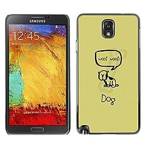 LECELL -- Funda protectora / Cubierta / Piel For Samsung Galaxy Note 3 N9000 N9002 N9005 -- Cute Woop Woop Dog --