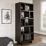 Better Homes and Gardens.. 5-Shelf Versatile Furniture Bookshelf Storage Organizer in Espresso Finish + Free Furniture Polish