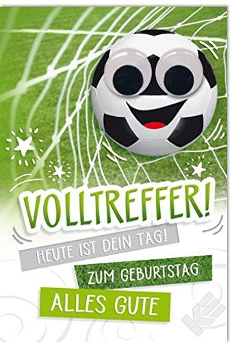 Geburtstagskarte Volltreffer Mit Wackelaugen B6 Umschlag