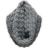 Light Grey Warm Criss Cross Handmade Cowl Scarf