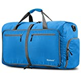 Gonex 80L Foldable Travel Duffle Bag for Luggage, Gym, Sport, Camping, Storage, Shopping Water & Tear Resistant Blue