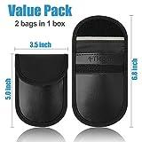 Faraday Bag for Key Fob (2 Pack), TICONN Faraday
