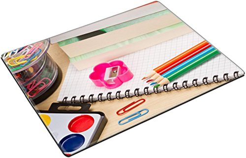 MSD Place Mat Non-Slip Natural Rubber Desk Pads Design: 30409051 School Supplies on Table by MSD (Image #3)