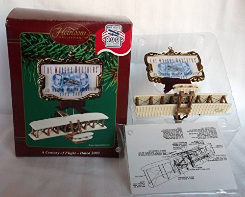 Carlton Cards A Century of Flight - Wright Brothers Retired - Christmas Ornament CXOR-106J