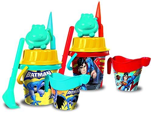 General De Juguetes General De Juguetes11303 18 cm Batman and Superman Bucket Set with Printed Water Can/Mold