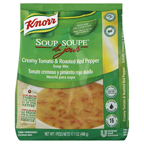Knorr Soup du Jour Mix Creamy Tomato and Roasted Red Pepper 17.1 oz, Pack of 4