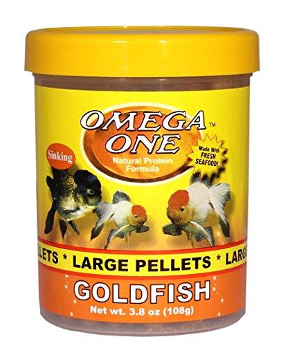 Pictures of Omega One Goldfish Large Pellets 3.8oz 04361 1