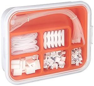 ikea fixa 114 piece set tv computer cable management system diy tools. Black Bedroom Furniture Sets. Home Design Ideas
