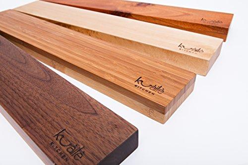 Heavy Duty Knife Holder - Magnetic Knife Bar - Knife Storage Strip 18'' (Bamboo Wood, 16 Inch) by Kuaile Kitchen (Image #5)