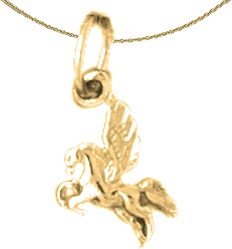 14K Yellow Gold-plated 925 Silver Horse Pendant with 18 Necklace Jewels Obsession Horse Necklace