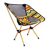 MIJORA-Aluminum Folding Camping Chair Seat For Outdoor Fishing Hiking Beach Picnic Tool(yellow)