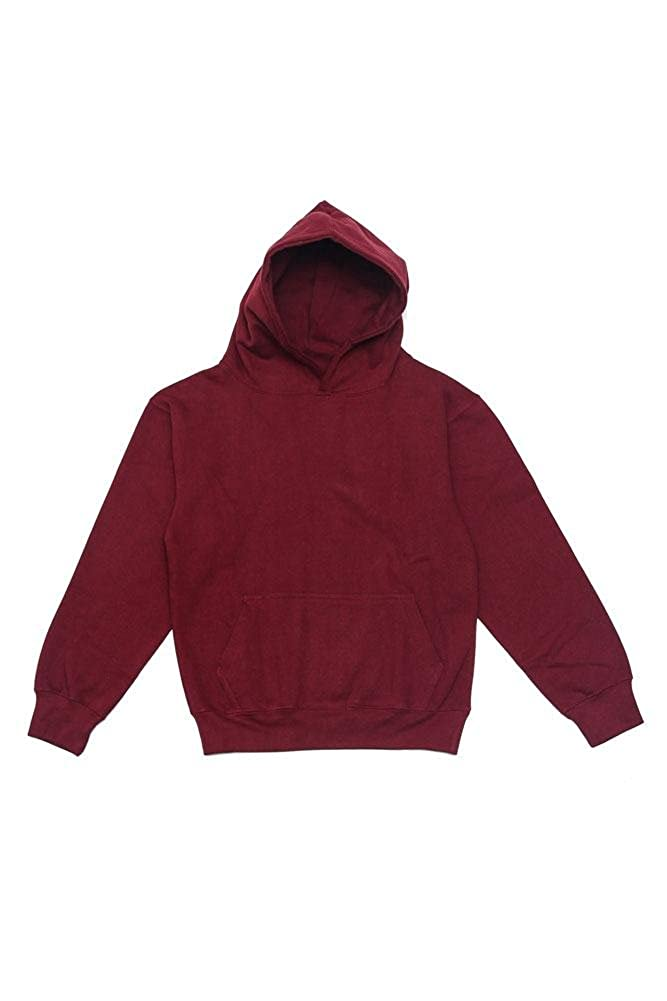 G-Style USA Youth Kids Preshrunk 10oz Premium Blend Solid Color Pullover Hoodie in 14+ Colors
