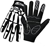 QEPAE Breathable Auto Racing Gloves Anti-Slip Full Finger Gloves for Biking Running Sporting Weightlifting Hunting Shooting Training