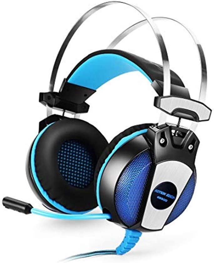 Color : Blue ZYDP Gaming Headset Noise Cancelling Headphone with Microphone Stereo Headset DJ Headphones PS4 PC Laptop Headset Phones 3.5mm