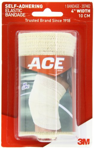 ACE Self-Adhering Elastic Bandage, 4 Inches (Adhering Elastic Self)
