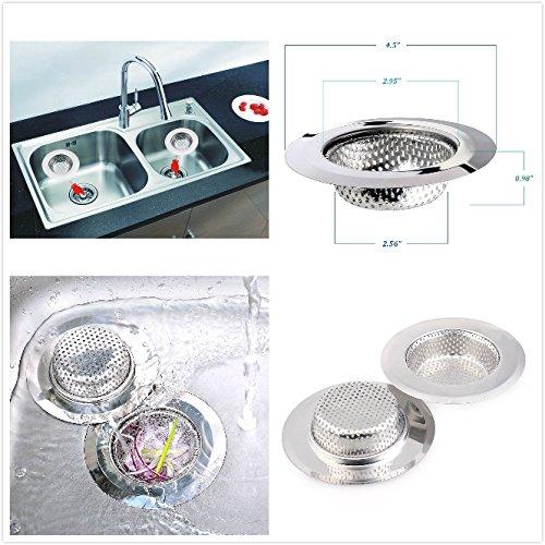 Gaoao Cuisine moderne Robinet de 360 degr/és pivotant robinet en laiton massif tourn/és Robinet de cuisine avec Cuisine inoxydable /évier dacier de vidange Filtre