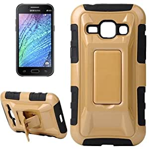 Fashionable Cool and Detachable Racing Car Form Combination Case with Holder and Hand Strap for Samsung Galaxy J1 / J100 (Gold)