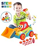 #10: LUKAT Take-a-Part Toys Assembly Toy Car Truck Construction Bulldozer Toys 3-4-5 Years Boys Girls, DIY Toddler Toys Music, Lights Drill Tool, Gift Kids 3-4-5 Year Old