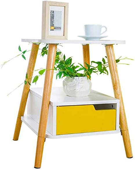 BinLZ-Table Mesa Lateral Móvil - Mesa Lateral Cafetera Portátil Laptop Cafetería Sala de Estar Sofá Lateral Gabinete con Cajón: Amazon.es: Deportes y aire libre