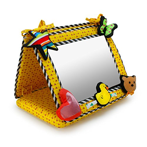 Smile, Baby! 2-in-1 Crib & Floor Mirror by Genius Baby Toys