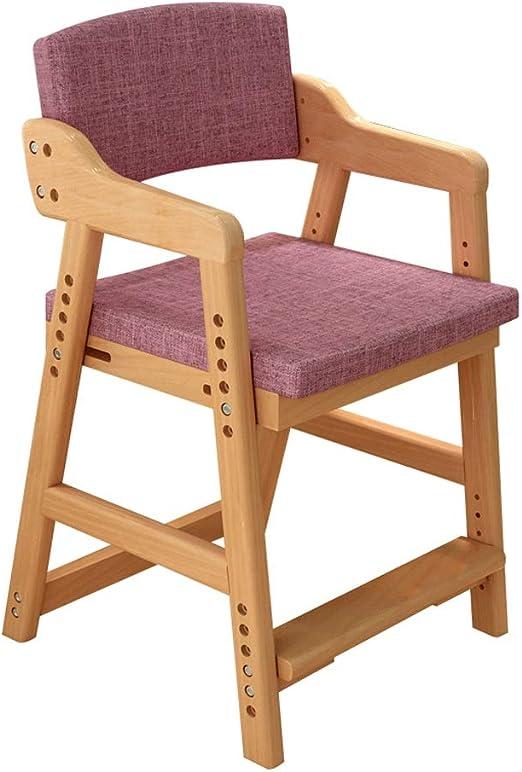 Sillas de madera ajustables Silla de estudio elevable para niños ...