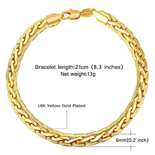 Mens bracelets, sterling silver gold plated bracelet,18k gold plated Chain & Link Bracelets for men - by (Red Jade 14kt Bracelet)