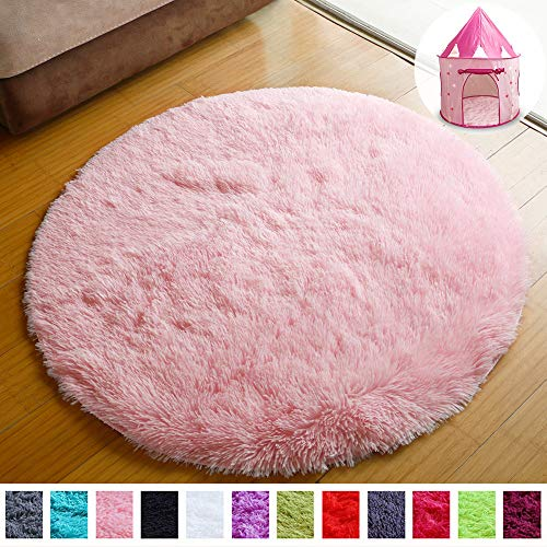 PAGISOFE Super Soft Circle Rugs for Girls Princess Castle Toddlers Play Tent 41