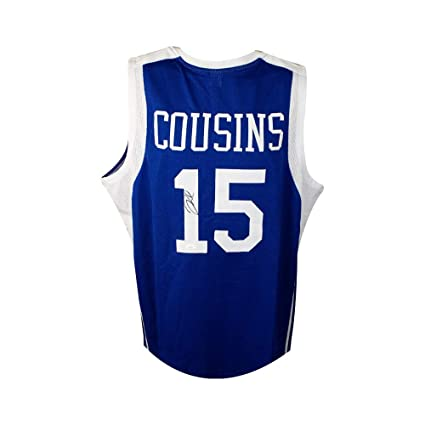 new product ca08e 90980 DeMarcus Cousins Autographed Custom Kentucky Basketball ...