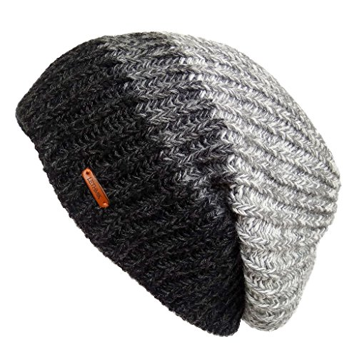 LETHMIK Unique Slouchy Beanie Unisex Mix Knit Skully Hat Ski Cap in 3 Colors