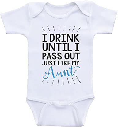 Baby Bodysuit Cute Baby Baby Announcement Newborn Baby Clothes Baby Clothes I Drink Until I Pass Out Newborn Girl Coming Home Outfit