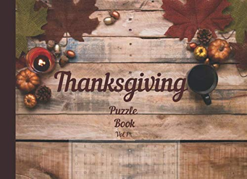 Thanksgiving Puzzle book Vol 1: Large print easy word search puzzles (Thanksgiving
