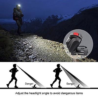 Winzwon LED Stirnlampe LED Kopflampe LED Stirnlampen LED Kopflampen Kopfleuchten LED Headlight 4 Helligkeiten zu wahlen…