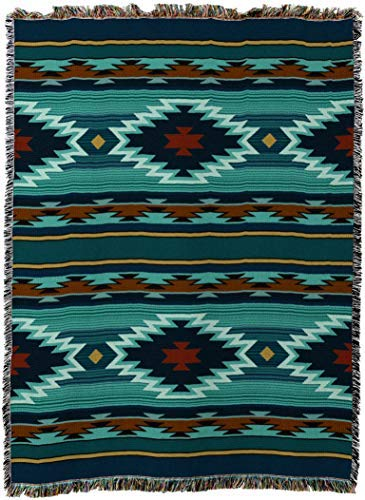 (Pure Country Weavers - Balpinar Southwest Geometric Tapestry Throw Blanket USA Size 72 x 54)